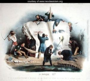 Literary-Criticism,-caricature-of-literary-critics-removing-passages-from-books-that-displease-them,-c.1830