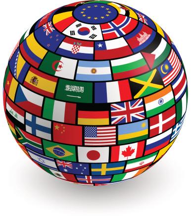 Flags 3D Globe